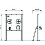 7144D Pols- en Handstation D-versie