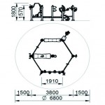 7301X Hexagonaal Circuit
