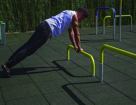 7430 Triple push up bar 35-60-90 cm