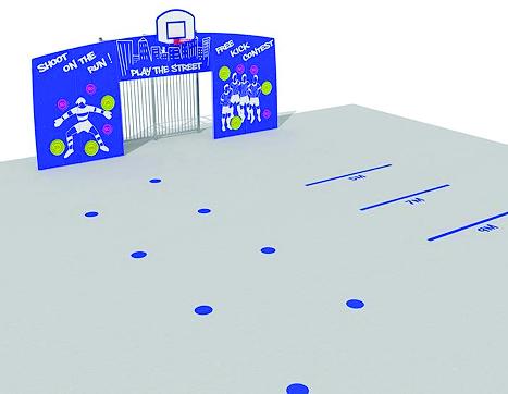 6412 Sportwand Streetball Futsal