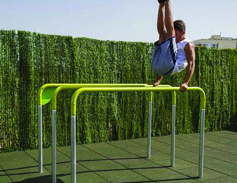 7422 Triple parallel bars 1200mm